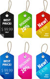 Color labels Royalty Free Stock Photography