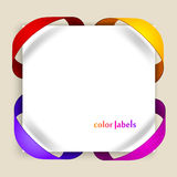 Color labels Royalty Free Stock Images