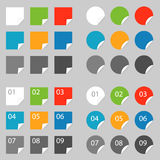 Color labels. Set  on grey Royalty Free Stock Photo