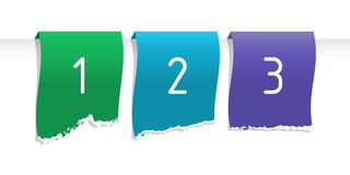Color labels. With numbers, stripes on white Stock Photography