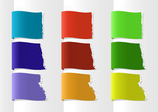 Color labels. Stripes with place for your symbols or text Royalty Free Stock Image