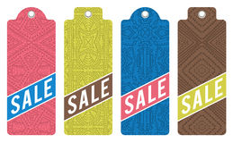 Color labels with sale offer, vector Royalty Free Stock Images