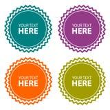 Color labels set Stock Image