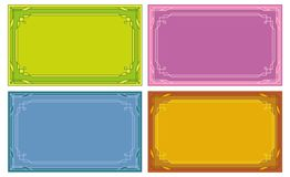 Color labels, tags, cards, set Stock Photos