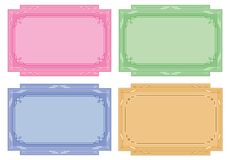 Color labels, tags, cards, set Stock Photo
