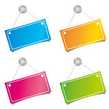 Color labels Stock Images
