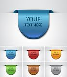 Color Labels. Royalty Free Stock Photos