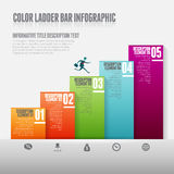 Color Ladder Bar Infographic Royalty Free Stock Photos
