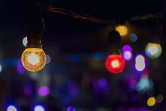 Color lamp and light bokeh Royalty Free Stock Images