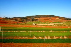 The color of land in Yunnan Stock Photo