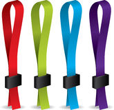 Color lanyards Royalty Free Stock Image