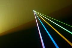 Color laser beams. Fantail in a haze Stock Illustration