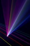 Color laser beams. Fantail in a haze Vector Illustration