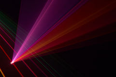 Color laser beams Royalty Free Stock Photography