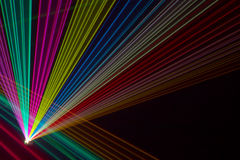 Color laser beams Royalty Free Stock Images