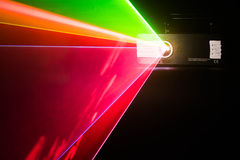 Color laser on a black background Royalty Free Stock Images