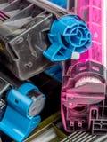 Color laser printer toner cartridges Stock Image