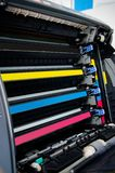 Color laser printer toners cartridges Stock Photo