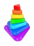 Color Layered Pyramid. Royalty Free Stock Images
