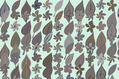 Color leaves & flowers illustrations background, hand drawn. Creative, art, abstract & cartoon. Color leaves & flowers illustrations background, hand drawn Stock Images