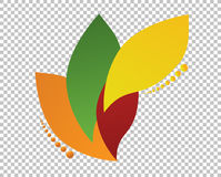 color leaves over a blank design layer Stock Photos