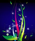 Color leaves and vines at night. Illustration drawing of color leaves and vines at night Royalty Free Stock Photography