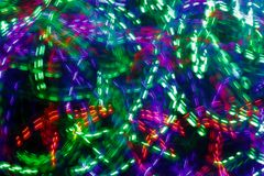 Color led lights and bokeh Stock Photo