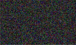 Color LED video wall screen, RGB color light diode dot grid texture. Vector digital LED video panel pattern background. Color LED video wall screen, RGB color royalty free illustration