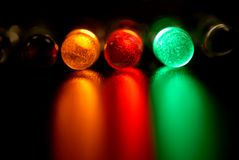 Color leds. Light-emitting diode, concept, innovation lamp stock photography