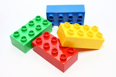 Color lego blocks. Toy connected isolated childhood royalty free illustration