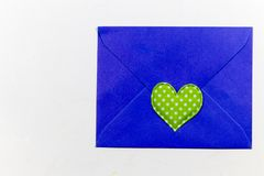 Color letter envelopes and colored hearts Royalty Free Stock Photography