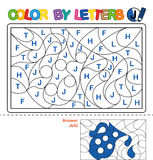 Color by letter.  Puzzle for children.  Jug Stock Photography