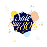 Color lettering for special sale offer sign, up to 80 percent off. Flat  illustration EPS 10.  Stock Photography