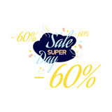 Color lettering for special sale offer sign, up to 60 percent off. Flat  illustration EPS 10.  Royalty Free Stock Photo