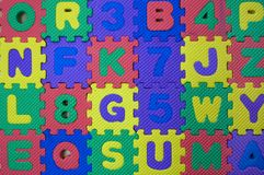 Color letters Stock Image