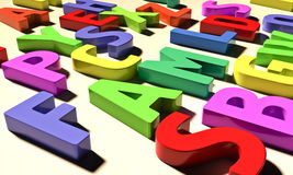 Color letters Stock Images