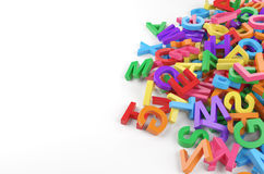 Color letters Stock Photography
