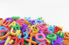 Color letters Stock Photo