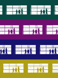 Color levels. Illustration art waiting people Royalty Free Stock Photography