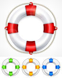 Color life buoy on white Stock Photo