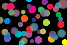 Color light. The image of abstract multi coloured sparks Royalty Free Illustration