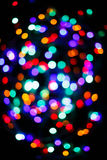 Color light blurred bokeh background, unfocused. Royalty Free Stock Photos