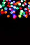 Color light blurred bokeh background, unfocused. Royalty Free Stock Image