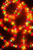 Color light blurred bokeh background, unfocused. Stock Photo
