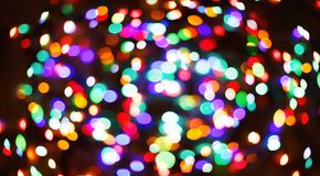 Color light blurred bokeh background, unfocused. Stock Photography