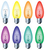 Color light bulb. 2D computer illustration - blend and gradient only Royalty Free Stock Photos
