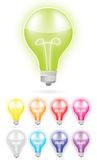 Color light bulb Stock Photos