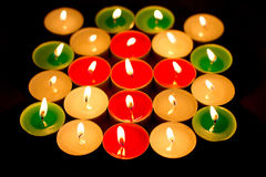 Color light candle Royalty Free Stock Photos