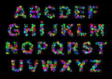 Color light letters Royalty Free Stock Images