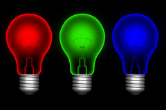 Color  lightbulbs Stock Photography